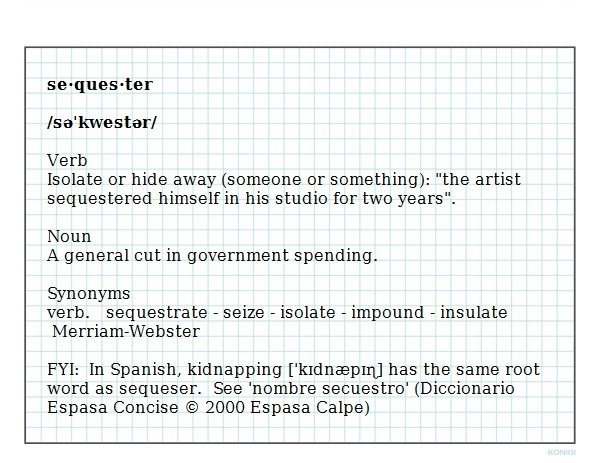 sequester-definition image