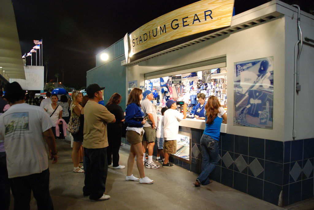 Concession Stand at Dodger Stadium - Kent Kanouse
