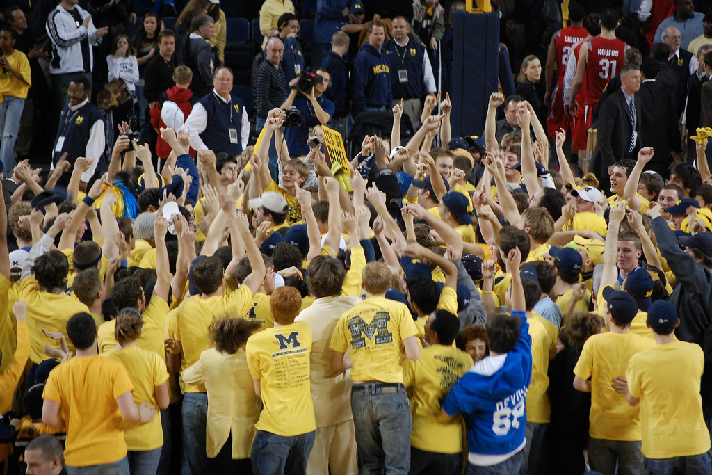 rushing the court