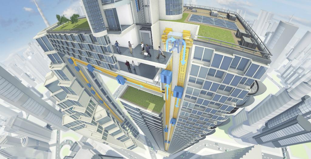 innovative elevator system MULTI