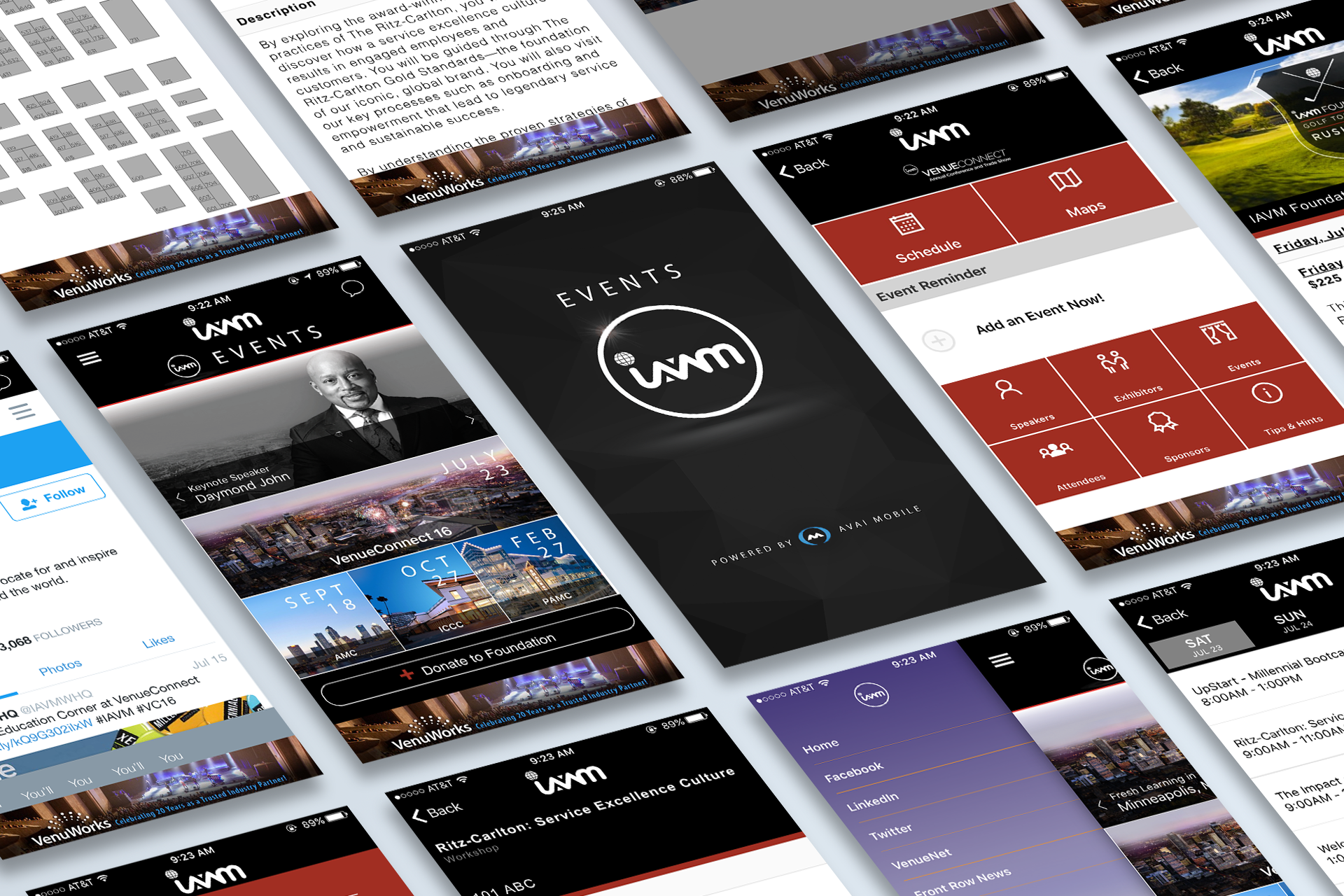 IAVM Events App Spread