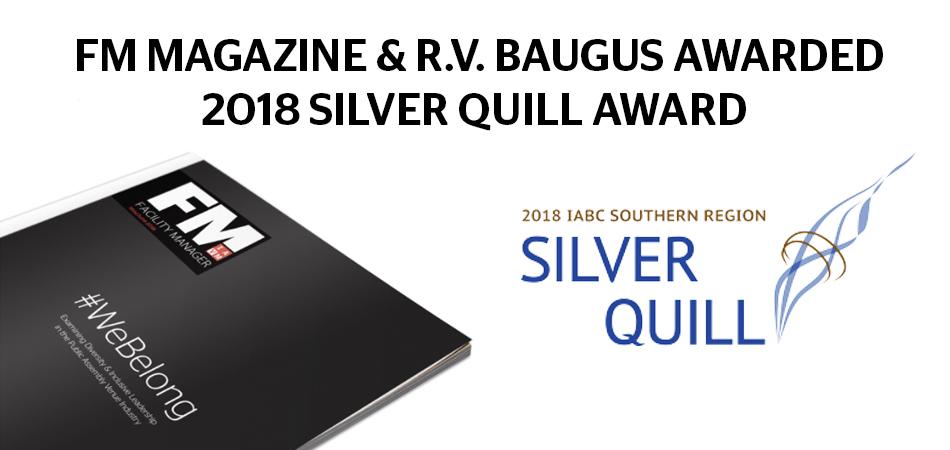 FM Magazine Wins Silver Quill Award   IAVM